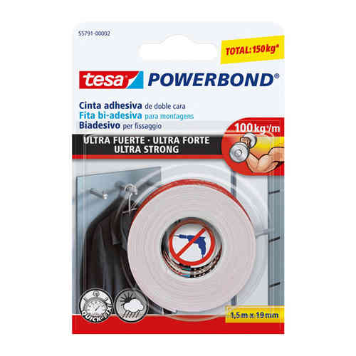 Adhesive Tape TESA Extra Strong Double Size 100Kg/m