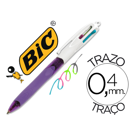 BIC 4 Pastel Colors Ballpoint Pen