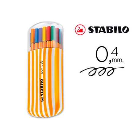 Rotulador STABILO Point 88 (20 Uds Surtidas)