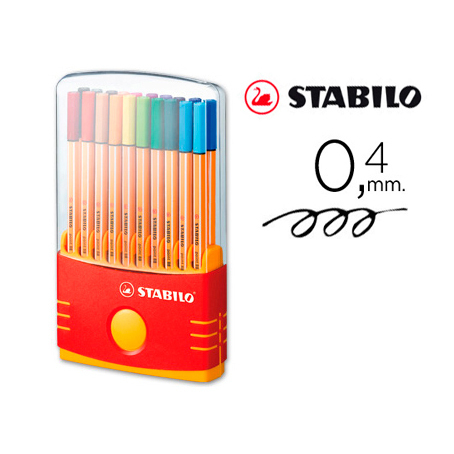 Estuche Rotuladores Stabilo Point 88 Color Parade (20 Uds)