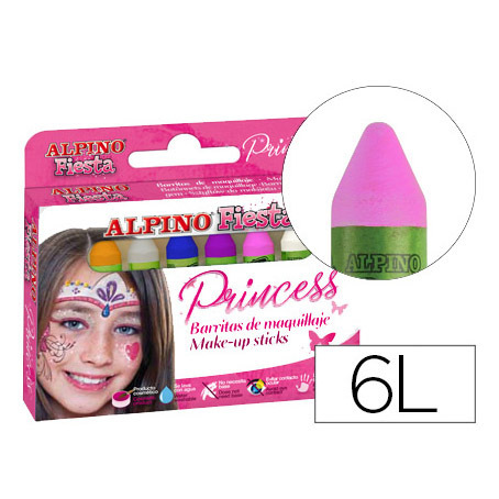 Maquillaje ALPINO Barras Princess (6 Barras)