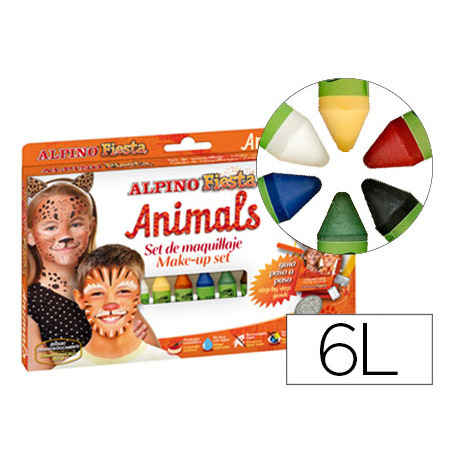 Maquillaje ALPINO Animals (6 Barras)