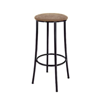 Hostelry Stool Model 158 Black with Bali Fabric