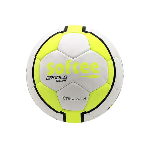 SOFTEE Bronco Yellow Indoor Soccer Ball 853f27edcfd1b