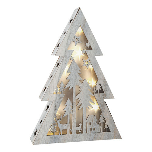 Shabby Chic Small Lighted Christmas Tree